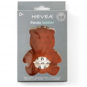 Anneau de dentition 100% naturel panda - Hevea
