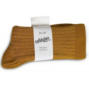 """Chaussettes Lurex """"Moutarde"""""""