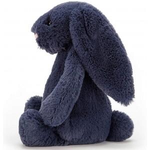 Peluche lapin Bashful Bunny Bleu Navy  Jellycat