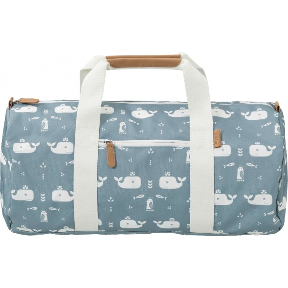 "Sac Weekend  en PET recyclé ""Baleine Bleue"""