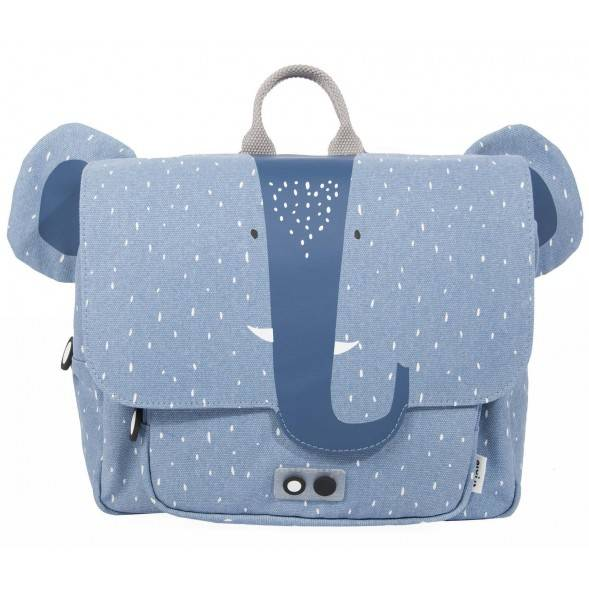 "Cartable en coton hydrofuge ""Mrs Elephant"""
