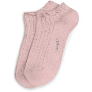 """Chaussettes courtes à côtes """"Rose Quartz"""""""