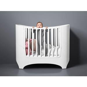 """Lit bébé évolutif en bois """"Blanc satiné"""" Leander"""