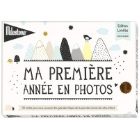 Milestone cartes bébé over the moon - milestone cards -