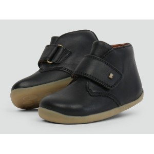 "Bottines enfant cuir  I Walk ""Desert"" Noir Bobux"