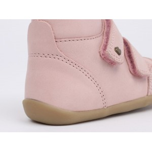 "Bottines bébé en cuir Step-up ""Timber"" Rose Blush Bobux"