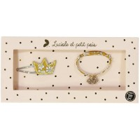 "Coffret Barrette & Bracelet Liberty of London ""Capel Moutarde"""
