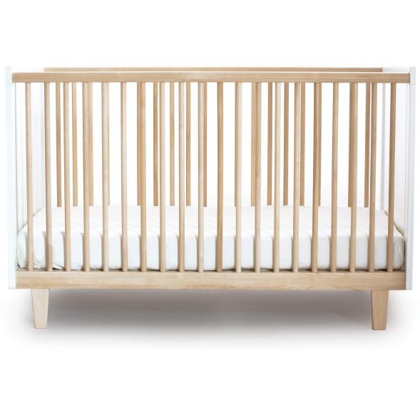 """Lit bébé évolutif 70x140 en bois Rhea """"Bouleau"""""""