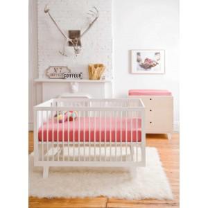 "Lit bébé évolutif en bois Sparrow 70x140 ""Blanc"" Oeuf NYC"