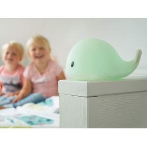 Veilleuse bébé lumineuse et nomade LED USB Baleine Moby Flow