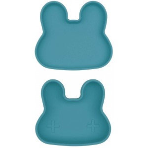 "Boite à goûter Lapin en silicone ""Bleu""- We might be tiny -"