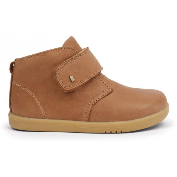 "Bottines en cuir I Walk ""Desert"" Caramel"
