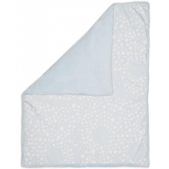 """Couverture bébé hiver en coton et polaire (75x100) """"Cloudy Blue"""""""