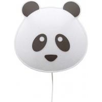 """Applique en PET recyclé Panda """"Noir"""" (avec ampoule LED)"""
