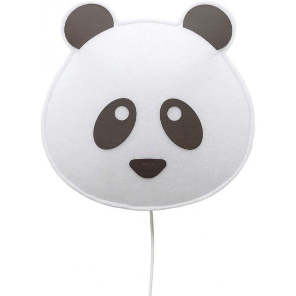 """Lampe murale en PET recyclé Panda """"Noir"""" (avec ampoule LED)"""