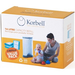 Korbell recharge 3 pack 15l