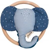 "Hochet en coton bio ""Mr Elephant"" Trixie Baby"