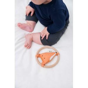 """Hochet en coton bio """"Mr Fox"""" Trixie Baby"""