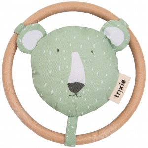 "Hochet en coton bio ""Mr Polar Bear"" Trixie Baby"