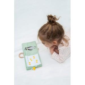"""Livre d'éveil en coton bio """"Animaux"""" Trixie Baby"""