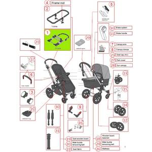 Chassis alu pour poussette Bugaboo cameleon 3