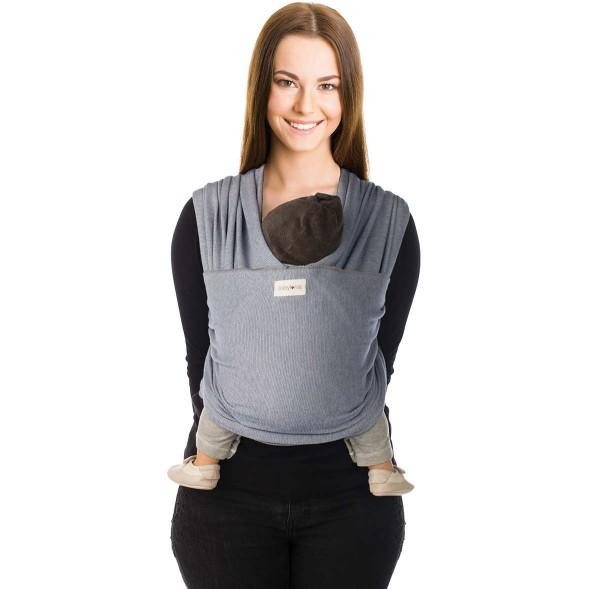 """Echarpe de portage Tricot-Slen Design en coton bio """"Jeans"""""""
