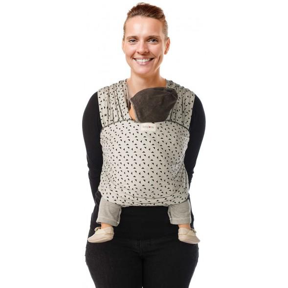"Echarpe de portage Tricot-Slen Design en coton bio ""Triangles"""