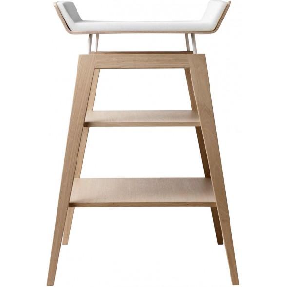 Table à langer Linea en chêne avec matelas