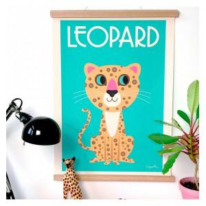 Affiche leopard - omm design -
