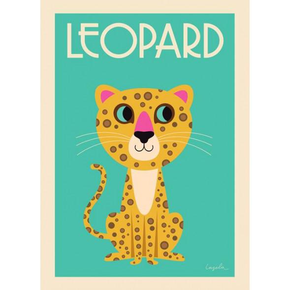 """Affiche """"Leopard"""" par Ingela P Arrhenius"""