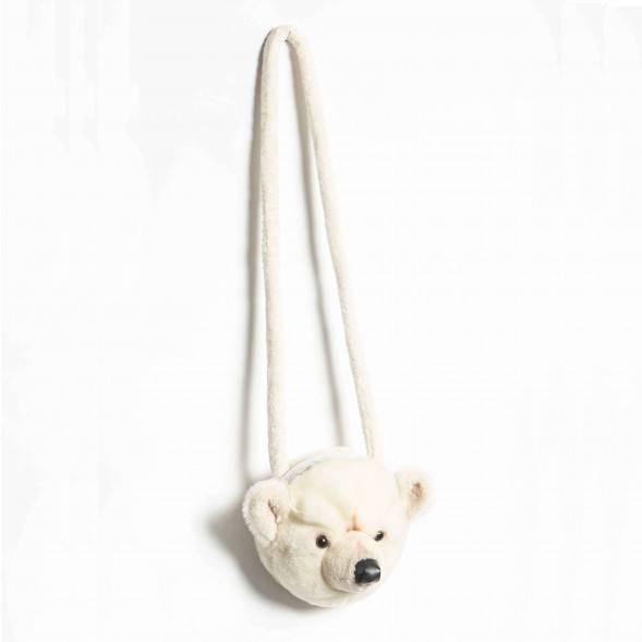 """Sac à main enfant en peluche """"Ours polaire"""""""