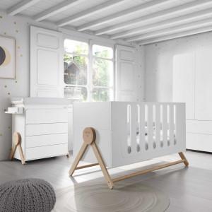 """Armoire Swing en bois """"Blanc/Scandinave"""""""