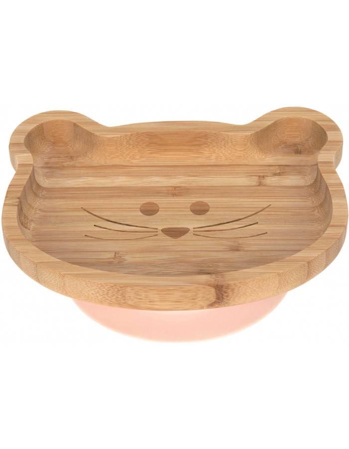 Assiette /à ventouse en bambou naturel pour b/éb/é en forme de panda