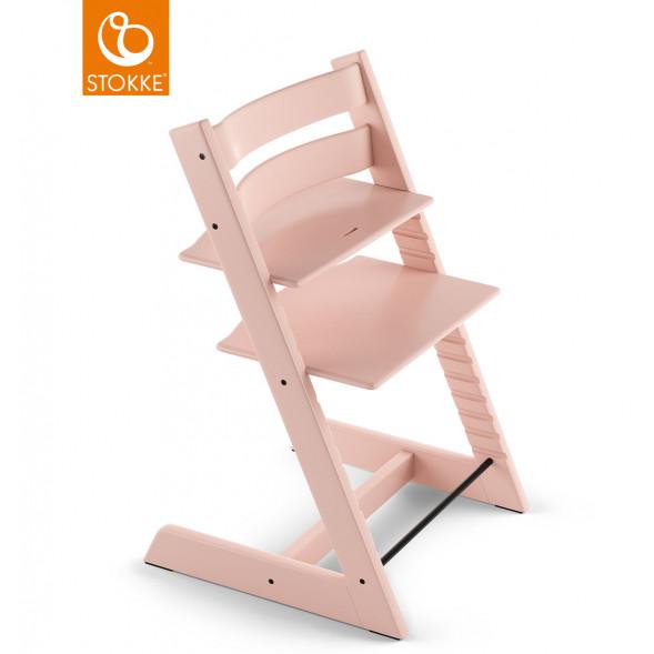 "Chaise haute Tripp Trapp en bois ""Rose Serein"""