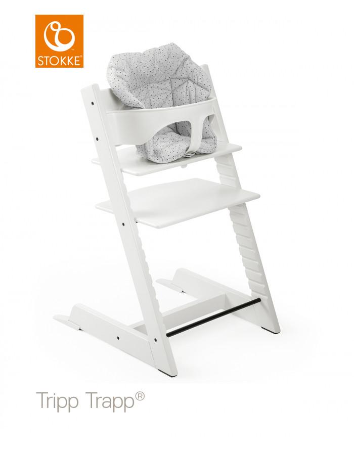Chaise Haute Tripp Trapp En Bois Blanc Stokke Dröm Design