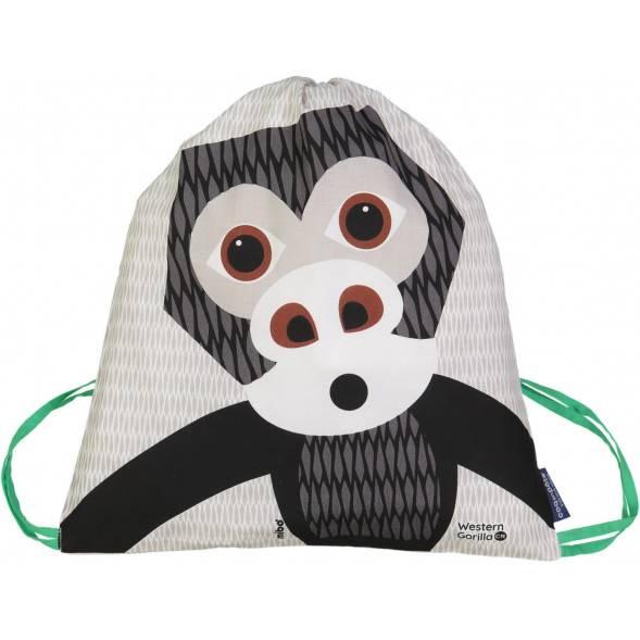 Sac d'activités enfant en coton bio Mibo Gorille