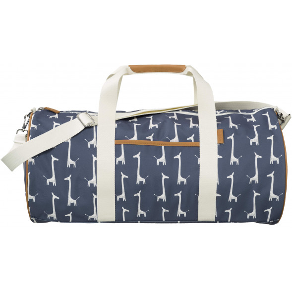 "Sac Weekend en PET recyclé ""Girafe Bleue"" (grand)"