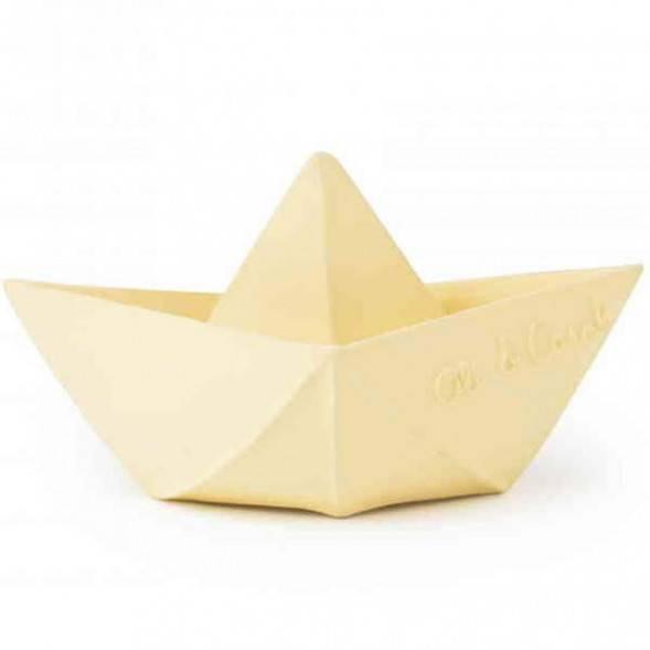 "Bateau de bain Origami en hevea ""Vanille"""