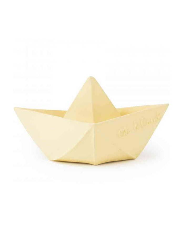 Bateau De Bain Origami En Hevea Vanille Oli Carol Drom Design