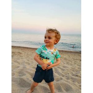 """Body bébé manches courtes en coton bio """"Surfer"""" Change ma couche"""