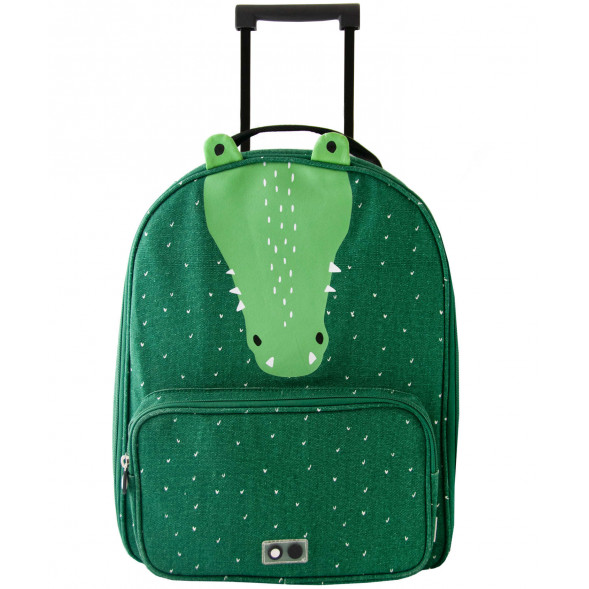 "Valise trolley enfant en coton hydrofuge ""Mr Crocodile"""