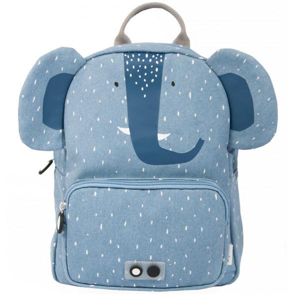 """Sac à dos enfant A4 en coton hydrofuge """"Mrs Elephant"""" (31 cm)"""