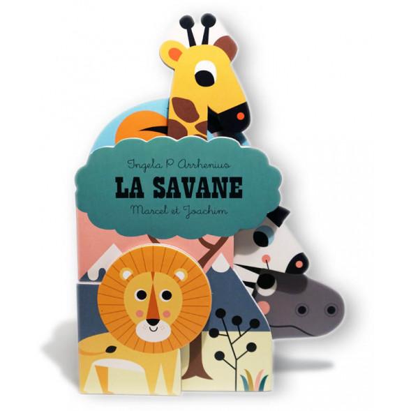 """Livre d'éveil imagier en carton """"La Savane"""" (6 mois et +) d'Ingela P. Arrhenius"""