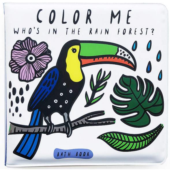 """Livre de bain à colorier """"Forêt Tropicale"""""""