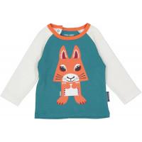 """T-shirt enfant manches longues en coton bio """"Mibo Ecureuil"""" Coq en pate"""