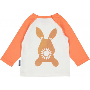 "T-shirt enfant manches longues en coton bio ""Mibo Lapin"" Coq en pate"