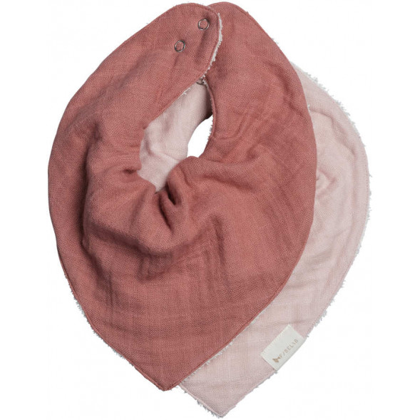 "Bavoirs bandana en coton bio ""Berry"""