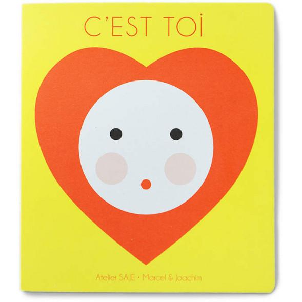 """Livre d'éveil en carton """"C'est toi"""" d'Atelier Saje"""