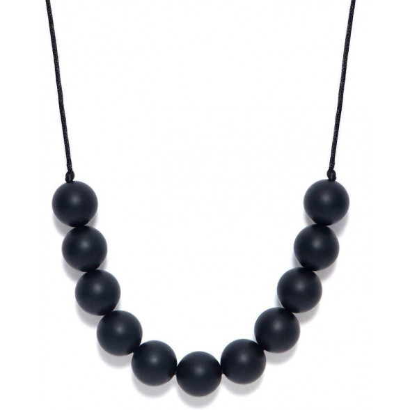 "Collier rond de dentition en silicone ""Black"""