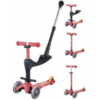 "Trottinette Mini Micro 3-en-1 Deluxe Plus (1-5 ans) ""Rose Rubis"""
